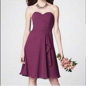 NWT Alfred Angelo Berry Bridesmaid Dress 7176